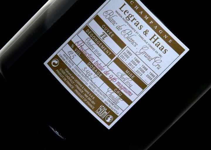 Cuvées éphémères - Champagne Legras & Haas